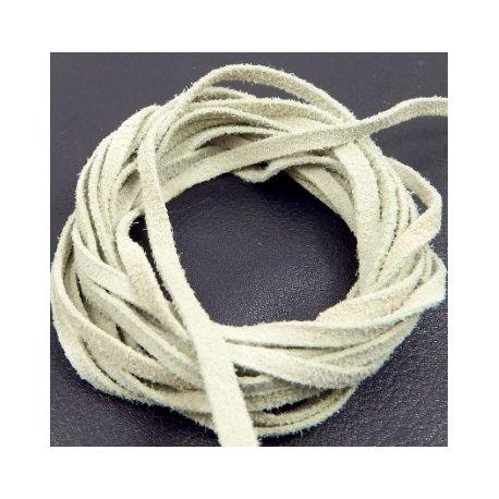 Cuir daim 3mm ivoire