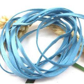 Cuir daim 3mm bleu clair