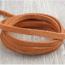 Cuir daim 5mm terracota