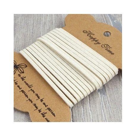 Cordon suedine style daim ivoire 3mm par 3 metres.