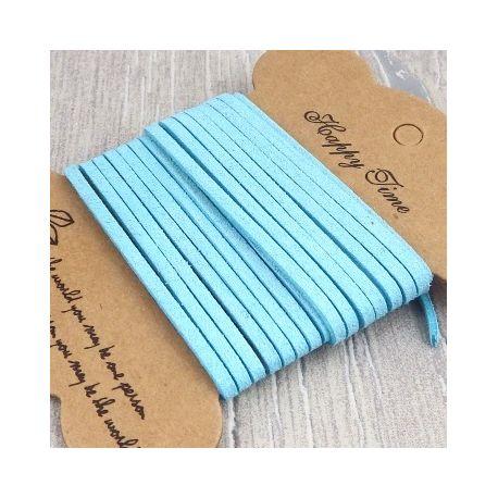 suedine turquoise style daim 3mm par 2 metres