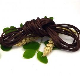 cordon queue de rat 2mm marron