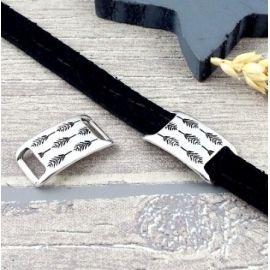 passant passe cuir epis plaque argent pour cuir plat 10mm