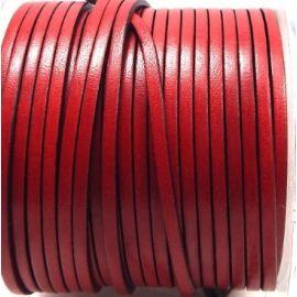 Cuir plat 3mm rouge