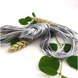 cordon queue de rat 2mm gris
