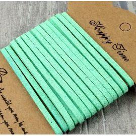Cordon suedine vert menthe par 3 metres