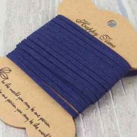 Cordon suedine bleu marine 3mm par 3 metres