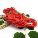 cordon queue de rat 2mm rouge