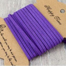 Cordon suedine violet 3mm par 3 metres.
