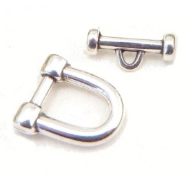 3 Fermoirs manille toogle plaque argent haute qualite pour bracelets