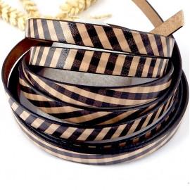 Cuir plat 10mm style foulard par metre