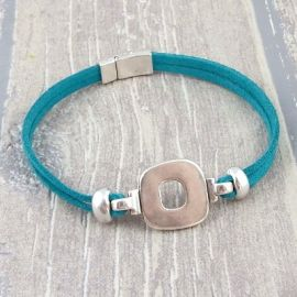 Kit bracelet suedine turquoise design argent