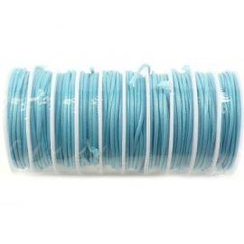 Cordon de fart enduit 2mm bleu par 3.5 metres
