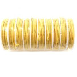 Cordon de fart coton enduit 2mm jaune par 3.5 metres