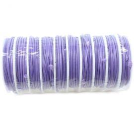 cordon de fart enduit 2mm mauve par 3.5 metres