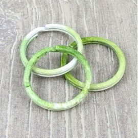 Anneau brise 30mm imprime vert et blanc