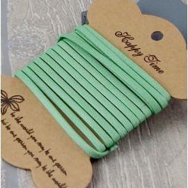 Cuir plat 3mm doublé vert tendre