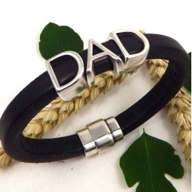 Kit tutoriel bracelet cuir regaliz marron special fete des peres