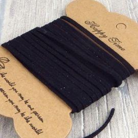 Cordon suédine noir 3mm