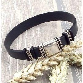 Kit bracelet cuir gris homme boheme