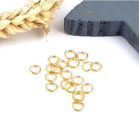 20 anneaux ouverts ronds argenté 5mm