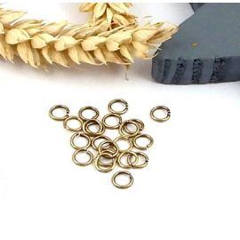 20 anneaux ouverts ronds bronze 5mm