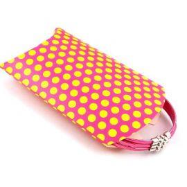 2 Pochettes berlingot carton rose et jaune pois