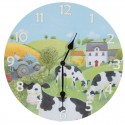 Horloge vaches dans la prairie