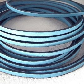 Cuir plat 3mm bleu ciel