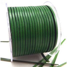 Cuir plat 3mm vert jardin