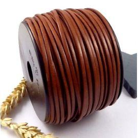 Cuir plat 3mm marron moyen