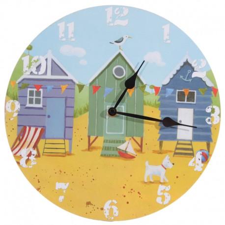 Horloge cabines plage
