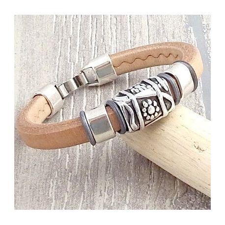 Kit bracelet cuir regaliz naturel bohème chic