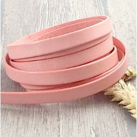 Cuir plat 5mm rose saumon pastel