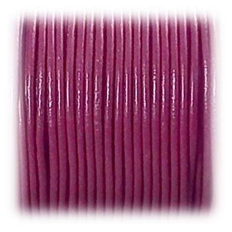 Cordon cuir rond 2mm fuchsia