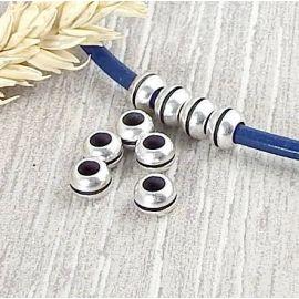 10 perles rondes ligne argent interieur 3.3mm