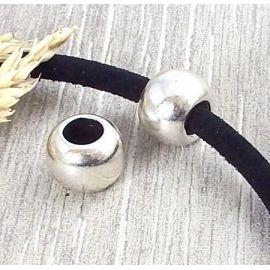 Grande perle ronde argent pour cuir interieur 8mm
