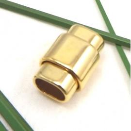 fermoir magnetique flashe or pour cuir regaliz