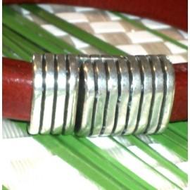 fermoir magnetique plaque argent pour cuir regaliz