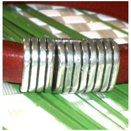 fermoir magnétique aimant plaque argent pour cuir regaliz