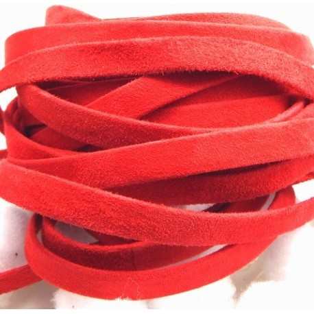 daim plat 10mm rouge