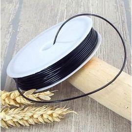 Cordon élastique 1mm noir par 6 metres