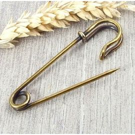 Epingle de surete pour broche bronze 65mm