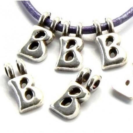 Pendentif lettre alphabet plaque argent