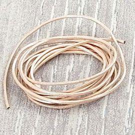 Cordon cuir rond poudre 1mm