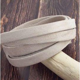 Cuir plat 10mm Daim sable