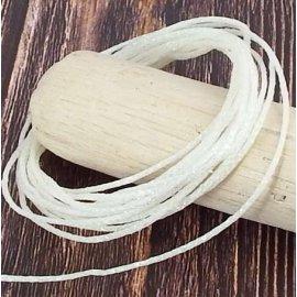 5 metres cordon coton blanc paillete 1mm