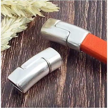 Fermoir magnetique vertical argent pour cuir regaliz