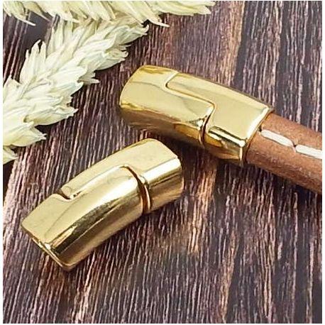 Fermoir magnetique vertical or pour cuir regaliz