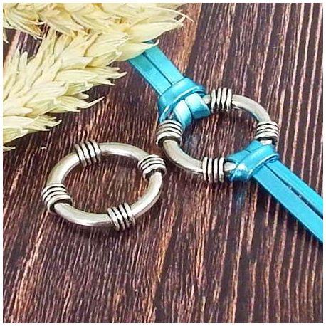 Intercalaire anneau original argente 25mm